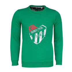 - Çocuk Sweat 0 Yaka Nostalji Logo Yeşil