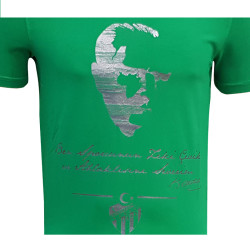 - Çocuk T-Shirt 0 Yaka Atatürk Yeşil (1)