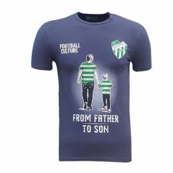 - Çocuk T-Shirt 0 Yaka Babadan Oğula Füme