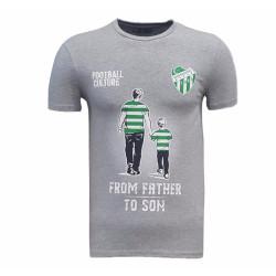 - Çocuk T-Shirt 0 Yaka Babadan Oğula Gri