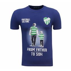- Çocuk T-Shirt 0 Yaka Babadan Oğula Lacivert