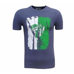 - Çocuk T-Shirt 0 Yaka Füme Parçalı Logo