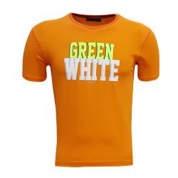 - Çocuk T-Shirt 0 Yaka Green White Turuncu