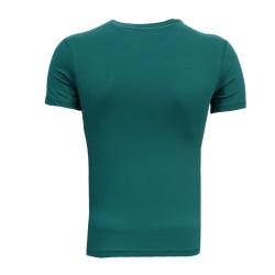 - Çocuk T-Shirt 0 Yaka Green White Yeşil (1)