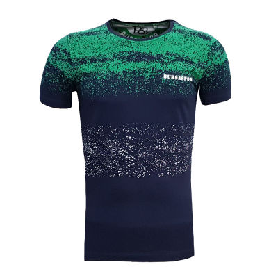 Çocuk T-Shirt 0 Yaka Noktalı Lacivert