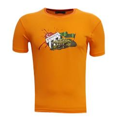 - Çocuk T-Shirt 0 Yaka Timsah Logo Turuncu