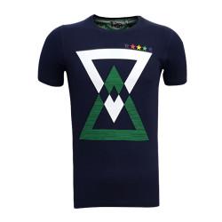 - Çocuk T-Shirt 0 Yaka Üçgen 5 Yıldız Lacivert