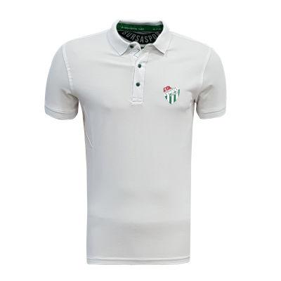 Çocuk T-Shirt Polo Yaka Beyaz Logo