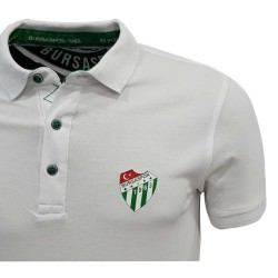 Çocuk T-Shirt Polo Yaka Beyaz Logo - Thumbnail
