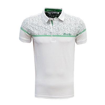 Çocuk T-Shirt Polo Yaka Beyaz Noktalı