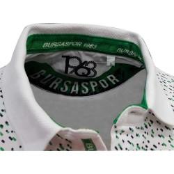 Çocuk T-Shirt Polo Yaka Beyaz Noktalı - Thumbnail