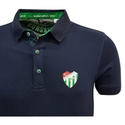 Çocuk T-Shirt Polo Yaka Lacivert Logo - Thumbnail