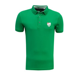 - Çocuk T-Shirt Polo Yaka Yeşil Logo