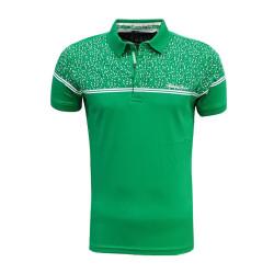 - Çocuk T-Shirt Polo Yaka Yeşil Noktalı