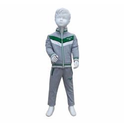 - Eşofman Takım Çocuk Yeşil Beyaz Gri