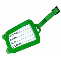- Pvc Valiz Etiketi Yeşil