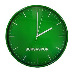 - Saat Duvar Bursaspor Cam (33x33)