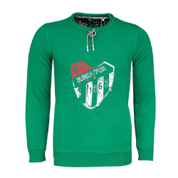 - Sweat 0 Yaka Nostalji Logo Yeşil