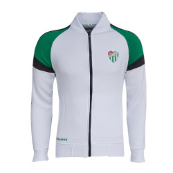 - Sweat Fermuarlı Logo Beyaz