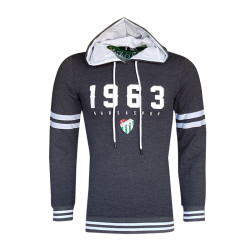 - Sweat Kapşonlu 1963 Logo Antrasit