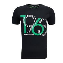 - T-Shirt 0 Yaka 1963 Bursaspor Siyah