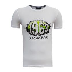 3TSHIRT90TL - T-Shirt 0 Yaka 1963 Duvar Beyaz