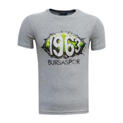 - T-Shirt 0 Yaka 1963 Duvar Gri