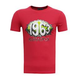- T-Shirt 0 Yaka 1963 Duvar Kırmızı
