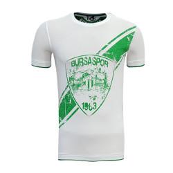 - T-Shirt 0 Yaka Arma Bursaspor Beyaz