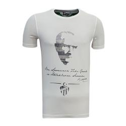 - T-Shirt 0 Yaka Atatürk Beyaz