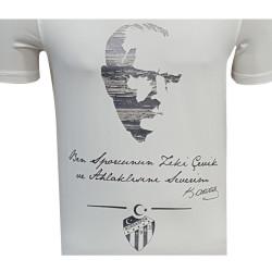 - T-Shirt 0 Yaka Atatürk Beyaz (1)