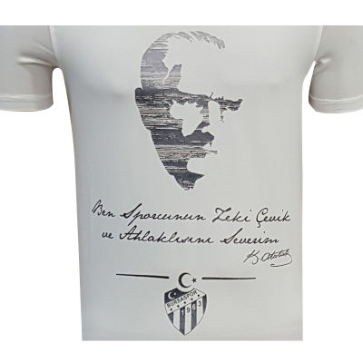 T-Shirt 0 Yaka Atatürk Beyaz