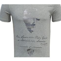 - T-Shirt 0 Yaka Atatürk Gri (1)