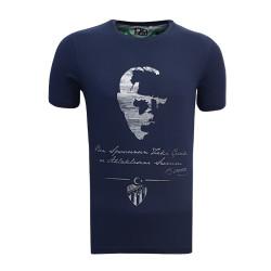 - T-Shirt 0 Yaka Atatürk Lacivert
