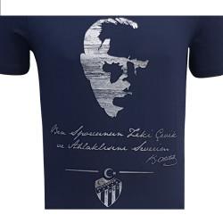 - T-Shirt 0 Yaka Atatürk Lacivert (1)