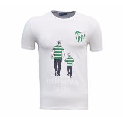 - T-Shirt 0 Yaka Babadan Oğula Beyaz 2017