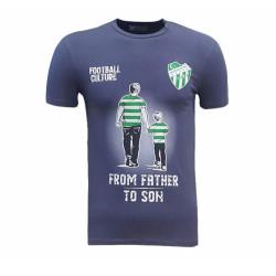 - T-Shirt 0 Yaka Babadan Oğula Füme