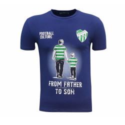 - T-Shirt 0 Yaka Babadan Oğula Lacivert