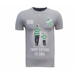 - T-Shirt 0 Yaka Babadanoğula Gri