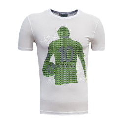 3TSHIRT90TL - T-Shirt 0 Yaka Batalla İsim Beyaz