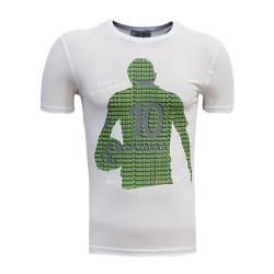 - T-Shirt 0 Yaka Batalla İsim Beyaz