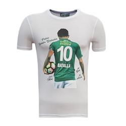 - T-Shirt 0 Yaka Batalla Resim Beyaz
