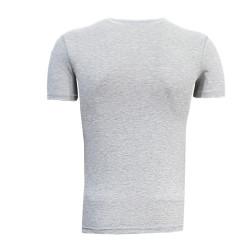 3TSHIRT90TL - T-Shirt 0 Yaka Batalla Resim Gri (1)