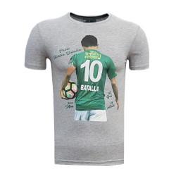 - T-Shirt 0 Yaka Batalla Resim Gri