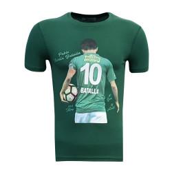 - T-Shirt 0 Yaka Batalla Resim Yeşil