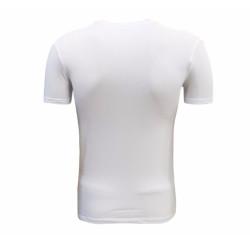 - T-Shirt 0 Yaka Beyaz Parçalı Logo (1)