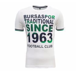- T-Shirt 0 Yaka Beyaz Since 1963