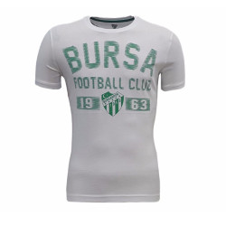 - T-Shirt 0 Yaka Beyaz Yeşil Futbol