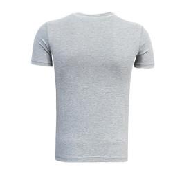 - T-Shirt 0 Yaka Bs Çizgili Gri (1)