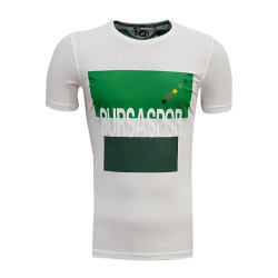- T-Shirt 0 Yaka Bursa Yıldız Beyaz